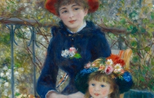 "A cropped image of Pierre-Auguste Renoir's ""Two Sisters (On the Terrace)."""