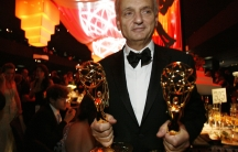 """David Chase with his Emmy wins for """"The Sopranos"""" in 2007."""