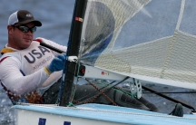 Kevin Hall sailing in the 2004 Olympic Games in Athens.