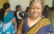 Reporter Rhitu Chatterjee's mother went to the polls to cast her vote Monday in Kolkata.