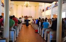 Sunday mass at the All Souls Church Unitarian in Washington DC.