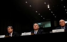 FBI Director Christopher Wray, CIA Director Mike Pompeo and Director of National Intelligence Dan Coats testify before a Senate Intelligence Committee hearing on