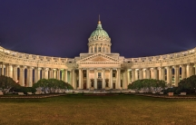 One of the reported targets of the planned attack: the Cathedral of Our Lady of Kazan, in St Petersburg