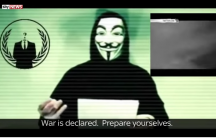 Screenshot from the YouTube video announcing Anonymous' war against ISIS