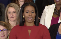 Michelle Obama giving what will be her last address as first lady.