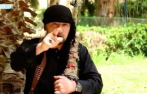 Screenshot of Gulmurod Halimov in video talking about his defection. The video has since been deleted.