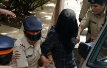 Indrani Mukerjea, suspect in Sheena Bora murder case being taken in by Mumbai Police.