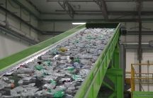 The CarbonLITE facility, which opened at the end of 2011, processes about 2 billion bottles a year. It's a closed loop recycling facility: plastic bottles are turned back into bottles to maximize recovery of the raw material.