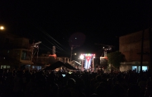 Street concert in Havana with Silvio Rodriguez on stage