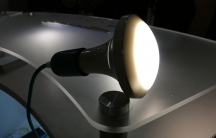 """This new ceiling lamp from Stack Lighting is on a growing list of household products that are """"smart,"""" but also green. It uses sensors to adjust itself based on ambient lighting in a room, and switch itself off if there's no one there. The company says th"""