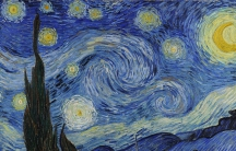 The Starry Night oil on canvas painting by Dutch post-impressionist painter Vincent van Gogh.