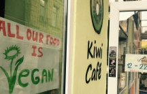 The Kiwi Cafe in historic downtown, Tbilisi, Georgia