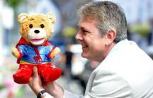 The Supertoy teddy bear with Supertoy Robotics' co-creator Ashley Conlan. (Photo: Kickstarter)