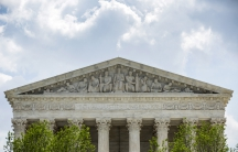 The US Supreme Court stands in Washington.