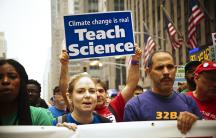 Teach climate rally