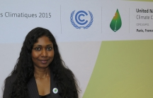 Former Maldives deputy UN ambassador Thilmeeza Hussain at the global climate conference in Paris in December, 2015, just before the adoption of the landmark Paris Agreement. With a suddenly very different political environment in the US, Hussain says clim