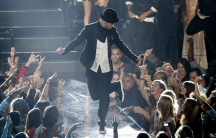 "Justin Timberlake performs ""Cry Me A River"" during the 2013 MTV Video Music Awards in New York"
