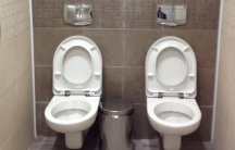 Shared toilet at the Sochi Olympic Biathlon Center