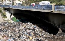 Garbage piles up in a riverbed near Beirut in late 2015. The region's almost year-long trash crisis prompted a political crisis, but also the emergence of nascent recycling programs.
