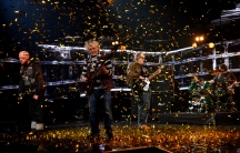 "Pertti Kurikan Nimipäivät won Finland's Eurovision vote with their performance of ""Aina Mun Pitää,"" or ""I Always Have To."" From left: Kari Aalto, Pertti Kurikka, Sami Helle, and Toni Välitalo."