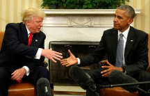 Obama meets with Trump at the White House in Washington