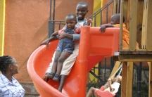 Children enjoying HAR facilities on Umuganda