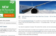 A screengrab from the View from the Wing website explaining how to get cheap fares from Danish websites.