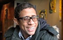 Deivis Ventura at a restaurant in Harlem.