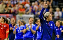 Soccer's female players may be the key to improving the management of the world's most popular sport, a former US player argues. (Pictured: America's Abby Wambach, walking off the field after her final appearance with the US team in December.)