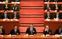 Chinese President Xi Jinping (center) at the opening of the 19th National Congress of the Communist Party of China at the Great Hall of the People in Beijing.