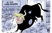Trump in a China shop.