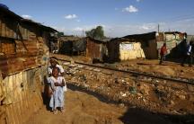 An open sewer in Kenya