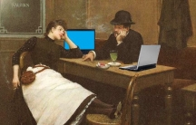 Au Cyber Cafe, after Jean Béraud