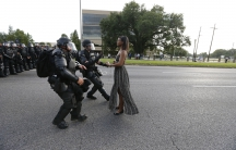 A demonstrator in Baton Rouge