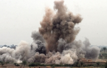 A US air strike on a suspected insurgent hideout in Fallujah in 2004. It's been more than 2 1/2 years since the US carried out air strikes in Iraq.