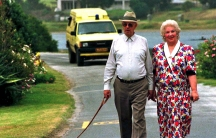 Former South African president P.W. Botha and his wife Elize