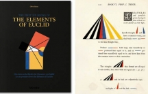 "Mathematician Oliver Byrne published ""The Elements of Euclid"" in 1847, updating the ancient geometry text with colorful design language."