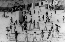 With the help of the military and civilian aid groups, Vietnamese refugees at California's Camp Pendleton created a community after being resettled there in 1975. They received food, shelter and services to help prepare them for permanent residence in the