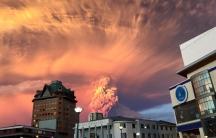Calbuco erupting