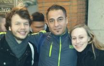 Caitlin Duncan (right), Hesham Ahmad Mohammad (center) and Caitlin Duncan's boyfriend (left) on New Year's Eve.