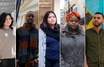 (Left to right): Indira Marquez Robles, Dustin Henderson, Maria Geneva Reyes, Mwewa Mwange and Jasiel López (left to right) are recipients of Deferred Action for Childhood Arrivals (DACA).