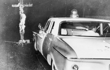 Chicago police move in to knock down a burning cross in front of a home, after an African-American family moved into a previously all white neighborhood, August 3, 1963. The civil rights movement in America was one of the historic trends transforming the