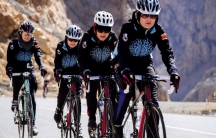 A training ride, outside the city of Kabul, Afghanistan
