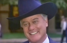 Larry Hagman at JR in Dallas, watched around the world.
