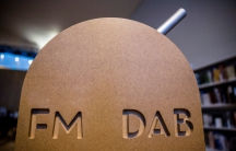 A switch is seen at a ceremony where the northern part of Norway's FM radio network was shut down in favor of digital radio or DAB