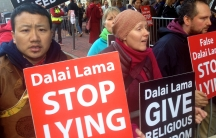 Supporters of the Dorje Shugden tradition in Tibetan Buddhism are behind a concerted protest campaign against the Dalai Lama, who spoke in downtown Boston on Thursday.