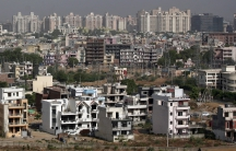 A general view of the residential apartments is pictured at Gurgaon, on the outskirts of New Delhi
