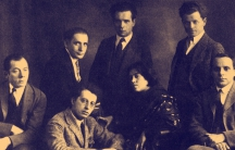 "A 1923 studio portrait of the In zikh (""Introspectivist"") poetry group."