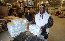 Bottled water in Flint, Michigan