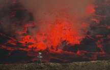 Mark Robinson traveled with a team from the Goma Observatory to set up monitoring equipment. He was in the volcano just days before it sprung back to life.